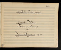 Manuscript scores